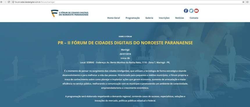 Maringá sedia Fórum de Cidades Digitais