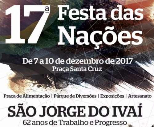 A 17ª Festa das Nações movimenta São Jorge de quinta-feira a domingo - CRÉDITO: Reprodução